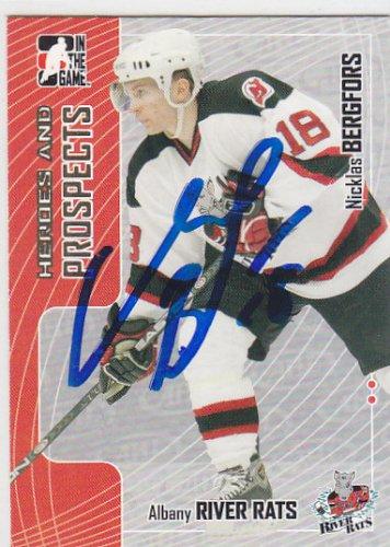 Nicklas Bergfors Signed H+P River Rats Card Devils - Vladivostok