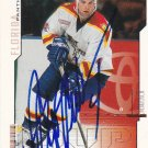 Bret Hedican Signed Panthers Card Canucks