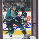 Jeff Jillson Signed Sharks Card Bruins - Sabres - Chomutov