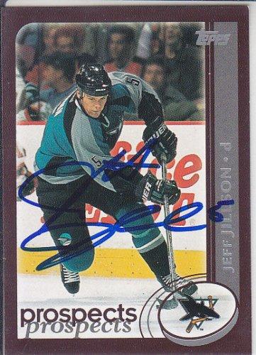Jeff Jillson Signed Sharks Card Bruins - Sabres - Chomutov