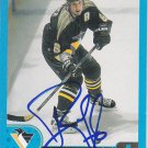 Bob Boughner Signed Penguins Card Sharks