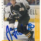 Jan Hrdina Signed Penguins Card HV71