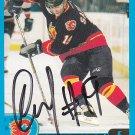 Oleg Saprykyn Signed Flames Card Avtomobilist