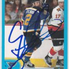Cory Stillman Signed Blues Card Hurricanes