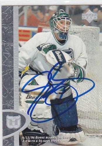 Sean Burke Signed 1996-97 UD Whalers Card