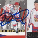 Petr Cajanek Signed Czech Jr. Card Blues - Saint Petersburg
