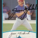 Jason Grabowski Signed 2001 Bowman Rangers Card