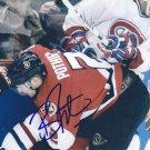 """Brian Pothier Signed 5""""x7"""" Senators Picture Capitals -Genève-Servette HC"""