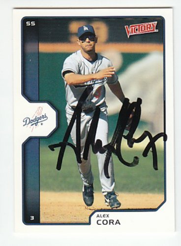 Alex Cora Signed Victory Dodgers Card