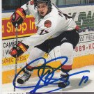 Justin Papineau Signed CHL Prospects Card Islanders Mannheim