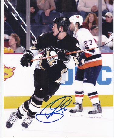 Ryan Malone Signed Penguins Photo Lightning