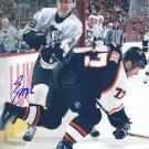 Erik Christensen Signed Penguins Photo Rangers - HV71