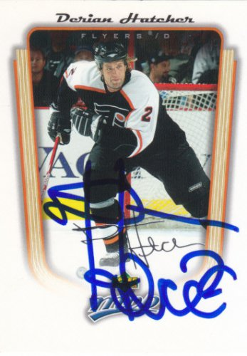 Derian Hatcher Signed Flyers Card Stars