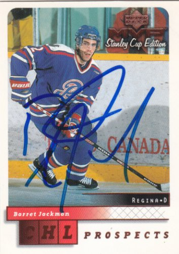 Barret Jackman Signed Prospects Card Blues - Predators
