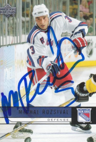 Michal Rozsival Signed Rangers Card Blackhawks