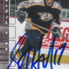 Scott Hartnell Signed Predators Card Blue Jackets