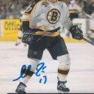 Shawn Bates Signed Bruins Card Islanders