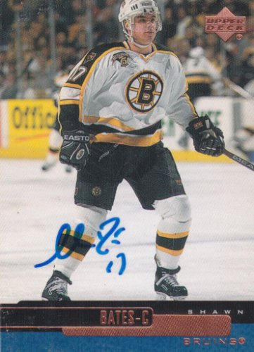 Shawn Bates Signed Bruins Card Islanders