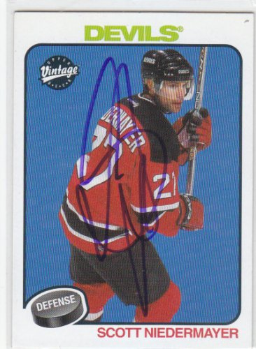 Scott Niedermayer Signed Devils Card Ducks