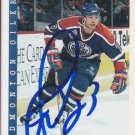 Martin Gelinas Signed Oilers Card Canucks