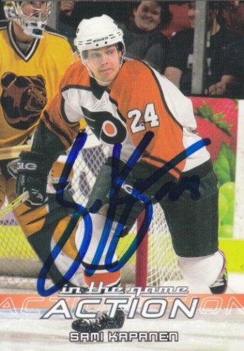 Sami Kapanen Signed Flyers Card KalPa - Hurricanes