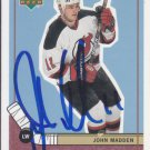 John Madden Signed Devils Card Blackhawks