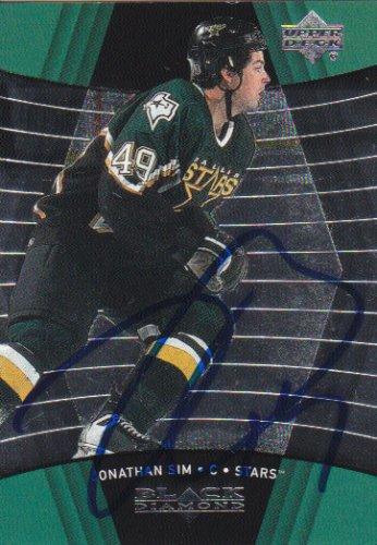 Jonathan Sim Signed Stars Card Penguins - Islanders