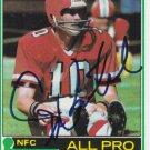 Steve Bartkowski Signed 1981 Topps All Pro Card Falcons