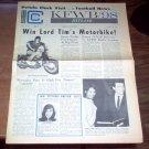 KFWB Hitline Magazine 10/13 1965 The Beatles Standells Byrds Johnny Rivers Music
