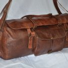 Real Leather Handmade Travel Luggage Vintage Overnight Duffle Weekend Gym Bag