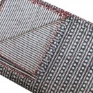 Queen Size Indian Hand Block Print Handmade Kantha Quilt Bedspread Ralli Throw