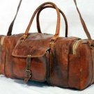 Real Goat Leather Handmade Travel Luggage Bag Rucksack Backpack Weekend Duffel