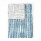 Indian Hand Block Print Kantha Quilt Diamond Print Queen Size Bedspread Throw