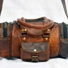 Real Leather Handmade Travel Gym Duffle Bag Luggage Vintage Retro Overnight Bag