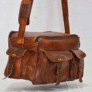 Real Leather Handmade Satchel Bag Briefcase Shoulder Messenger Camera Bag