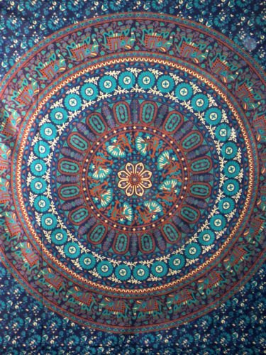 Mandala Cotton Throw Hippie Tapestry Boho Wall Hanging Beach Bedcover Bedsheet