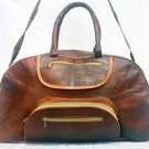 Real Genuine Leather Handmade Vintage Messenger Travel Luggage Weekend Bag