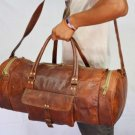 Real Leather Handmade Genuine Travel Rucksack Duffel Gym Bag Luggage Tote Bag