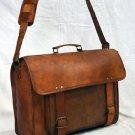 Indian Real Leather Vintage Messenger Bag Briefcase Satchel Brown Camera Bag