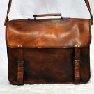 Real Leather Handmade Genuine Vintage Messenger Bag Cross Body Tote Bag Satchel