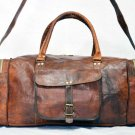 Real Leather Handmade genuine Duffel Gym Bag Travel Rucksack Luggage Tote Bag
