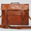 Handmade Real Leather Messenger Shoulder Bag Genuine Satchel Briefcase Tote