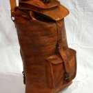 Real Leather Handmade Genuine Backpack Messenger Shoulder Rucksack Satchel Bag