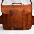 Real Leather Handmade Messenger Bag Cross Body Shoulder Unisex Sling Satchel