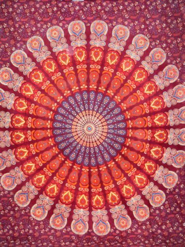 Mandala Hippie Cotton Tapestry Boho Wall Hanging Wall Tapestry Bedspread Throw