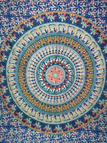 Mandala Elephant Tapestry Hippie Dorm Decor Cotton Wall Hanging Bohemian Throw