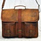 Real Leather Handmade Bag Briefcase Rucksack Vintage Messenger Satchel Bag