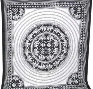 Elephant Hippie Mandala Tapestry Bohemian Wall Hanging Wall Art Bedspread Throw