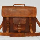 Real Leather Messenger Bag Cross Body Bag Office Bag Vintage Shoulder Satchel