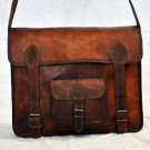 Real Leather Handmade Camera Bag Briefcase Attache Vintage Satchel Shoulder Bag